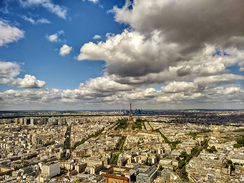 The view over Paris